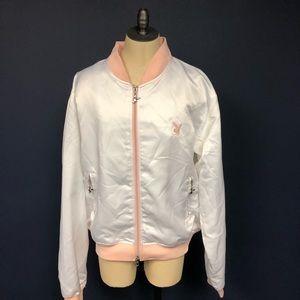 Playboy satin full zip jacket